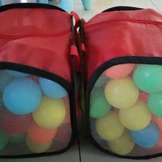 Colorful Soft Plastic Ocean Ball for Baby & Kid Toy (50pcs)x2 bags