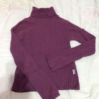 Edc by esprit 紫色高領毛衣