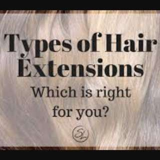 HAIR EXTENSIONS DISPLAY - FULL TIME WEAR - INSTALLED BY PROFESSIONALS - WEFTS/WEAVES