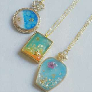 Resin Necklace Beach Sea Turtle Jewelry