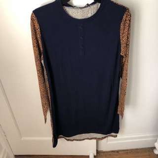The Fifth Label Long Sleeve Leopard Print Dress BNWT Size Small