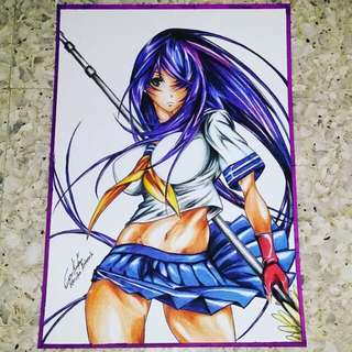 Anime art print- Kanu unchou from Ikkitousen