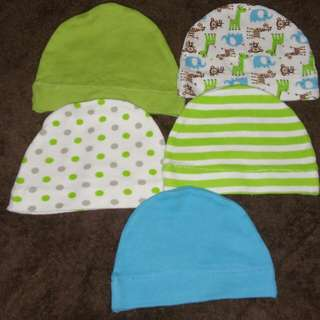 5 buah topi bayi newborn