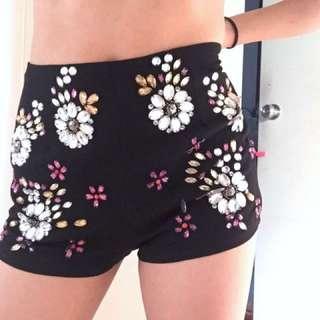 ASOS sequin shorts
