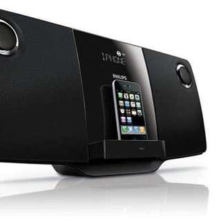 PHILIPS DCM278 Micro Hi Fi System iPhone Docking CD Player 底座CD喇叭 NEW