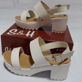 S&H White Heels