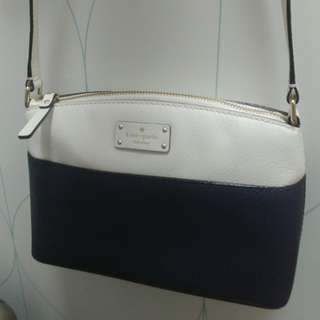 Kate Spade cross body bag navy white