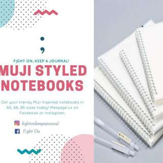 MUJI INSPIRED NOTEBOOKS