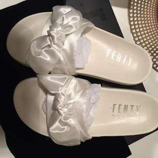Fenty Puma Bow Slides - Marshmallow - Size 6.5