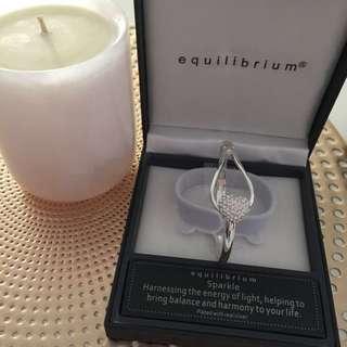 Equilibrium Heart Sparkle Bangle