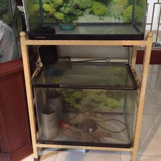 Used Fish Tanks With Metal Rack