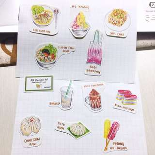 Singapore favorites stickers #2 (11types)