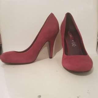 Suede Fusha heels