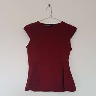 Maroon work top
