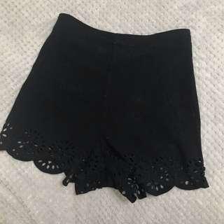 Lace black shorts - size xs