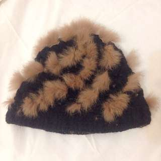 毛帽 可愛又有趣呢 毛料柔軟 編織 🐰