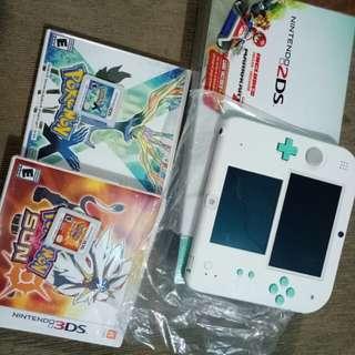 Nintendo 2DS Sea Green with FREE Pokemon Games