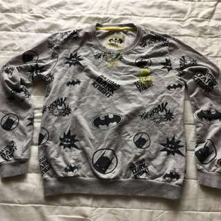 Batman pullover jumper sweater for girls or boys size 10