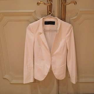 Zara basic blazer white pines