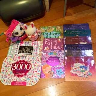 Children's books, Sticker's books & Rabbit's LED light
