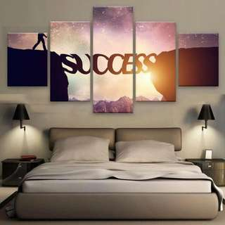 SUCCESS - 5 PIECE CANVAS