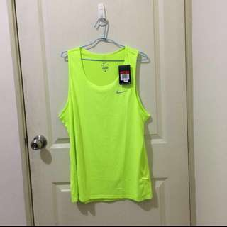 Nike 螢光跑衣 排汗衣 運動衣