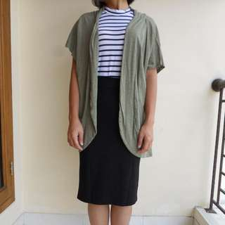Green Short Levee Cardigan