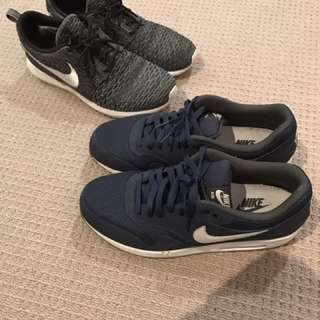 Nike Roshes US Size 10 and Nike air max 1 US size 11