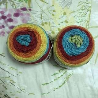 Caron cake yarn rainbow sprinkles