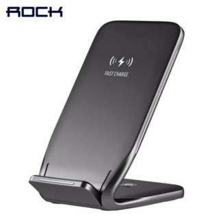 ROCK QI W3 Original Wireless Fast Charging Car Charger Phone Stand