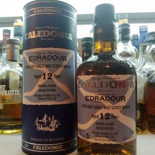 Edradour 12 Caledonia highland single malt whisky 超低價