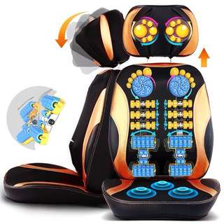 5D Electric back massager vibra Cervical malaxation massage device multifunctional pillow neck household full-body Massage chair