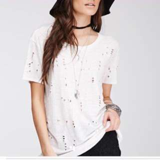 Forever 21 Distressed Top