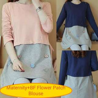 Maternity+BF Flower Patch Blouse