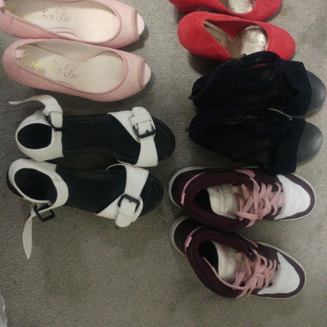 $7 shoes (platforms and high heel)