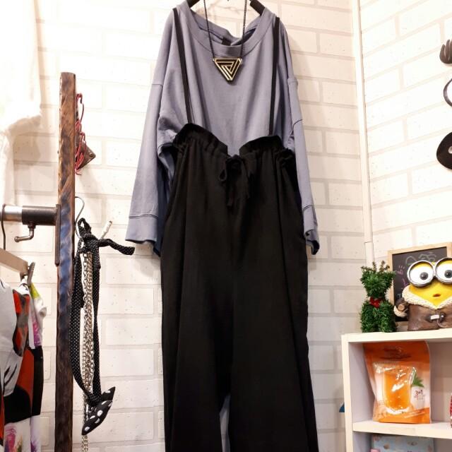 吊帶褲(黑)