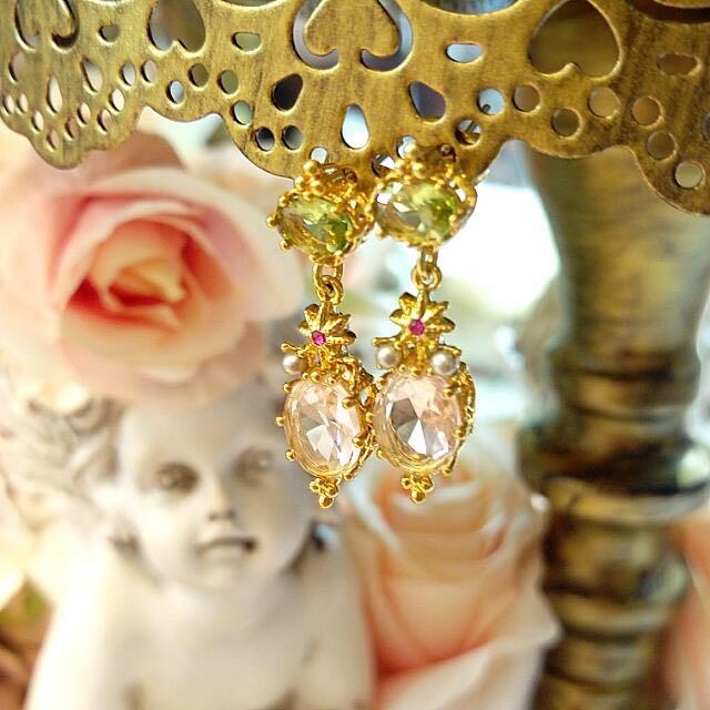 蕾娜海 水晶珠寶耳環