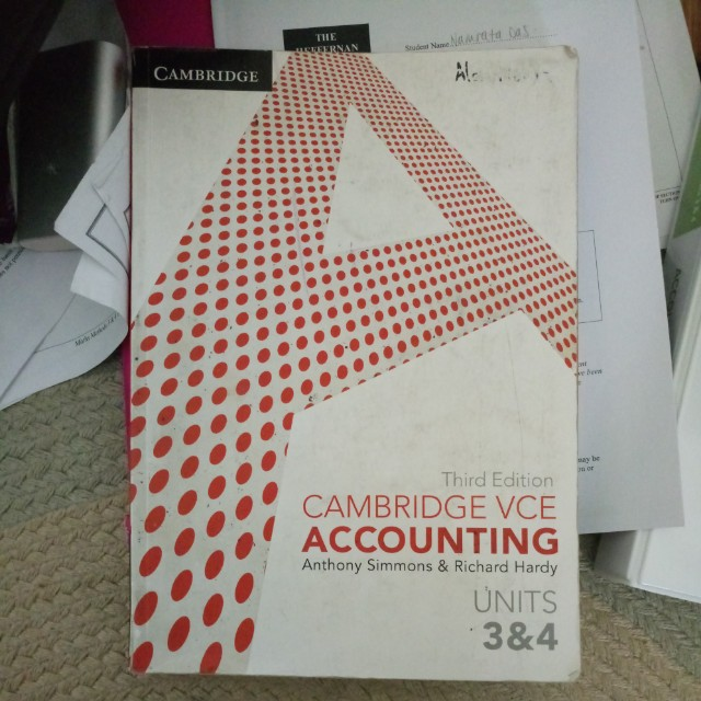 Accouting 3/4 textbook