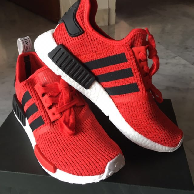 d01f7a63c7889 Adidas NMD R1 Core Red Black - UK9 US9.5