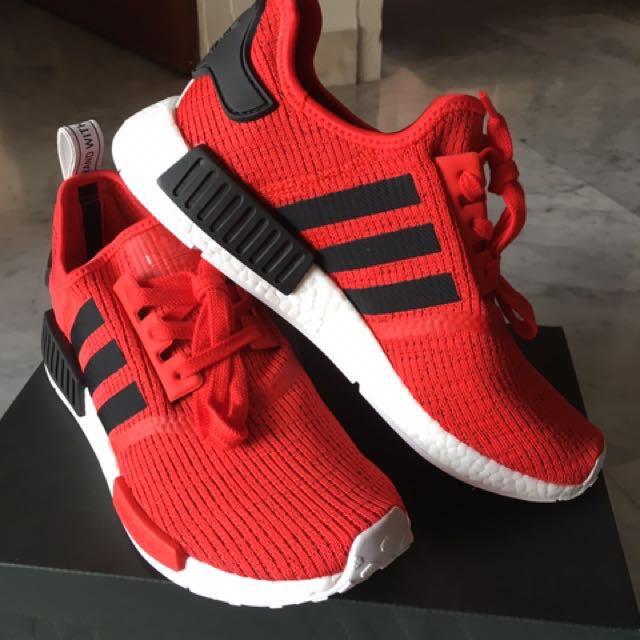 0c3de70a79ff6 Adidas NMD R1 Core Red Black - UK9 US9.5