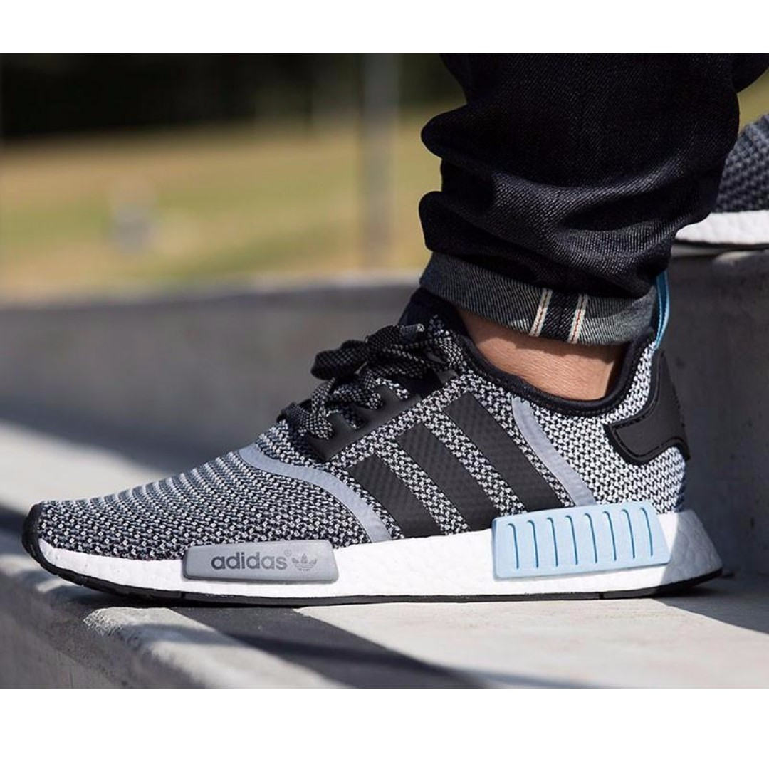 save off 7beeb f60ea Adidas NMD Runner   Grey Woven  Powder Blue White  , Men s Fashion,  Footwear, Sneakers on Carousell