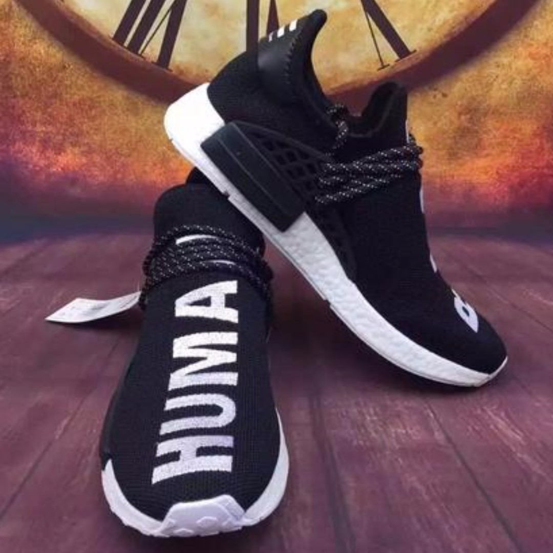los angeles 98d62 c5f0a Adidas NMD Runner   Human Race   Black, Men s Fashion, Footwear ...