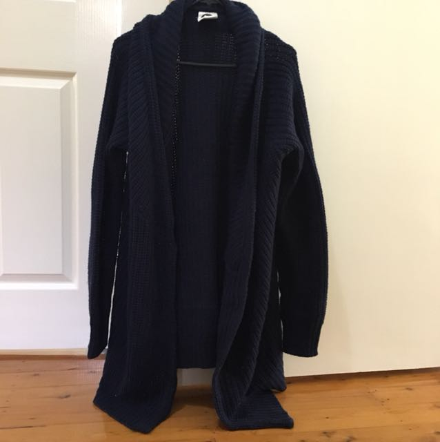 All About Eve oversized navy cardigan