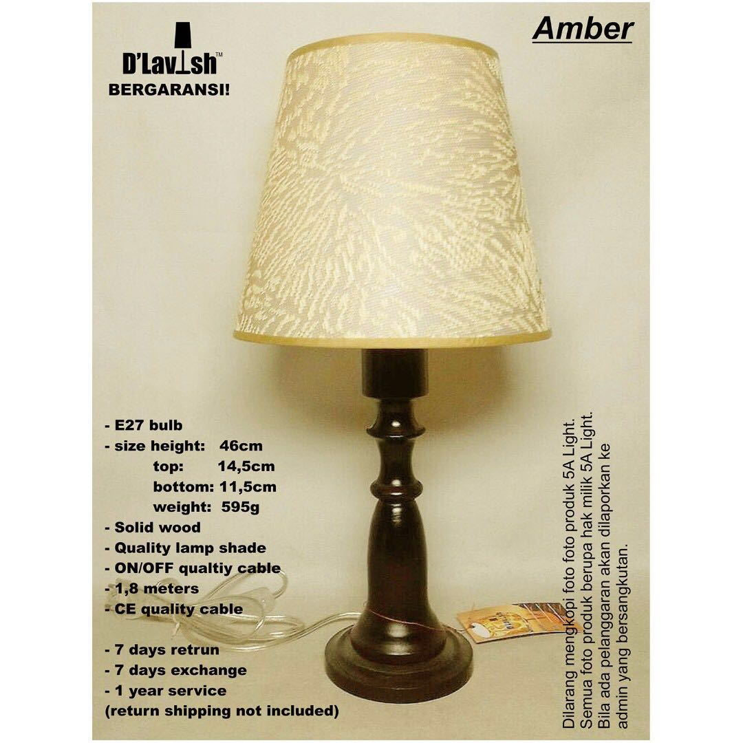 Amber, Table Lamp, Lampu Meja