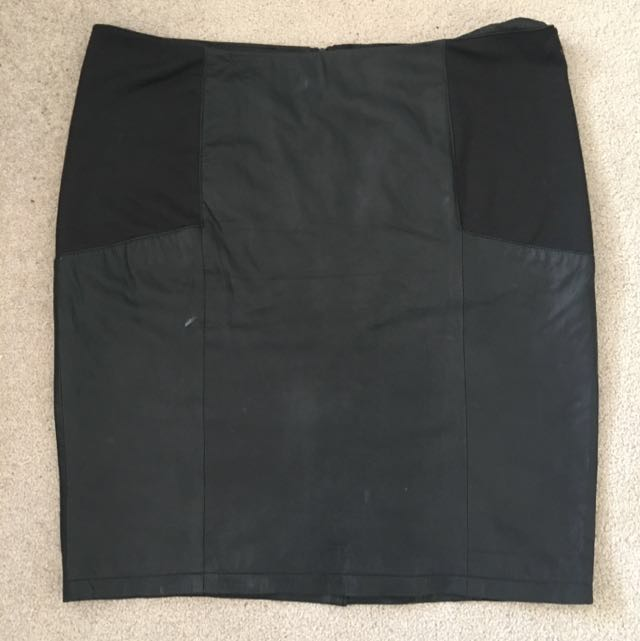 ASOS Curve Leather Skirt Size UK 20
