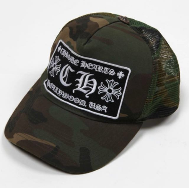 Authentic Chrome Hearts Camo CH Trucker Cap hat ecd30cb107e7