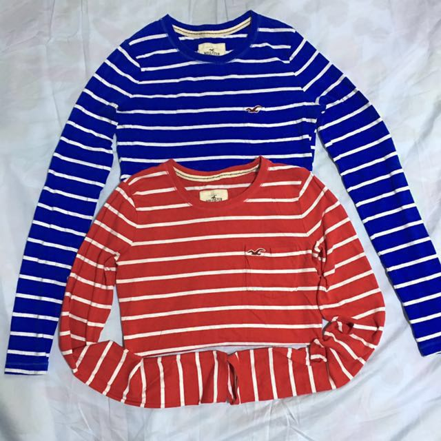 authentic hollister long sleeves shirts