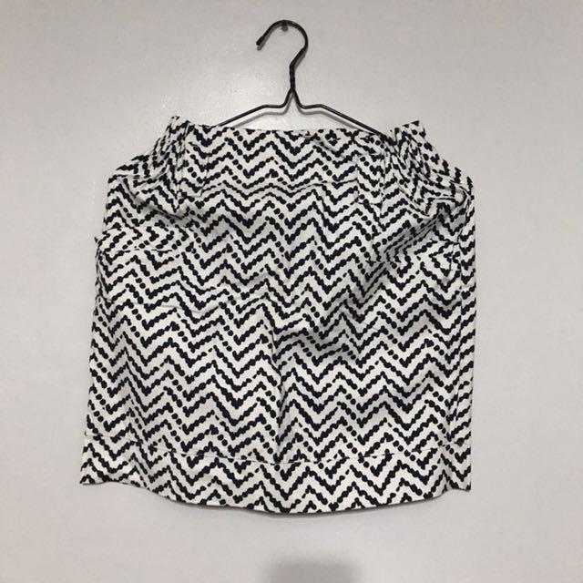aztec skirt (navy blue and white)
