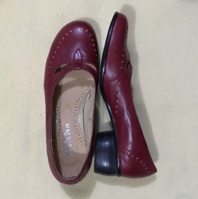 Bibba Red leather shoes