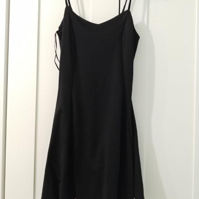 Black Mini Skater Dress